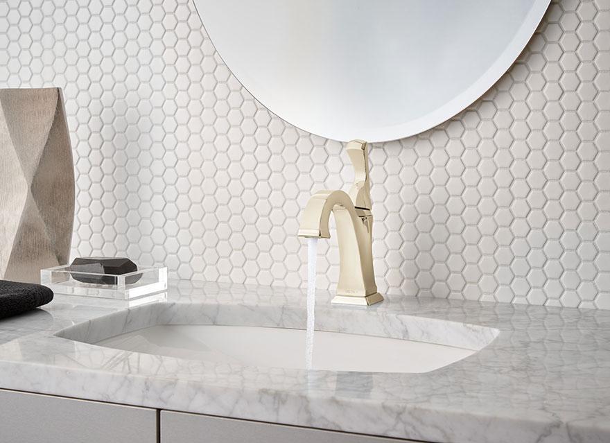 Delta Dryden Polished Nickel Single Hole Bathroom Faucet
