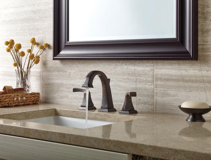 Delta Dryden Collection Venetian Bronze Widespread Bathroom Faucet
