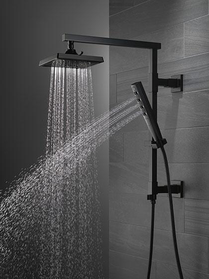Delta Emerge Matte Black Finish Shower System Column