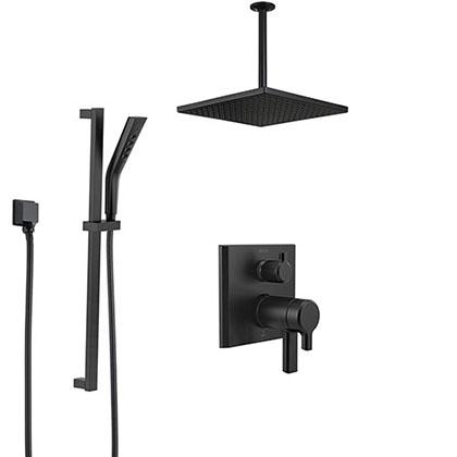 Delta Matte Black Finish Full Custom Shower Systems