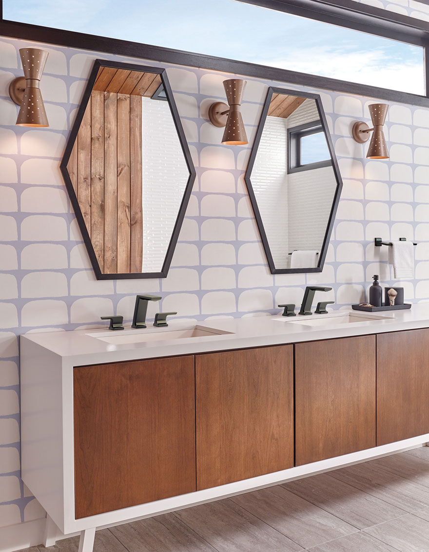 Delta Pivotal Collection Matte Black Widespread Lavatory Bathroom Sink Faucet
