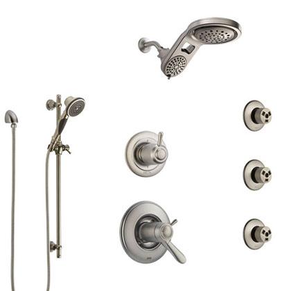 Delta Stainless Steel Finish Full Custom Shower Systems
