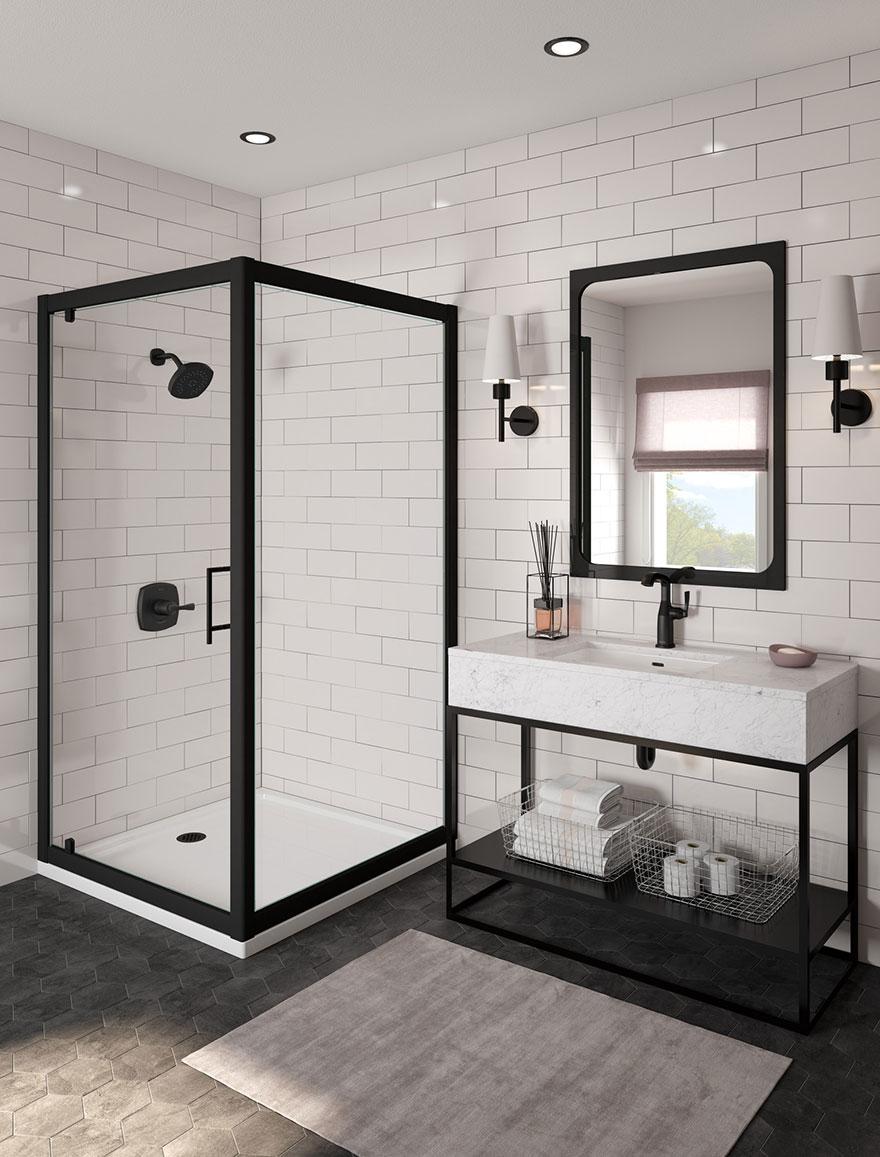 Delta Stryke Collection Matte Black Shower Only Faucet
