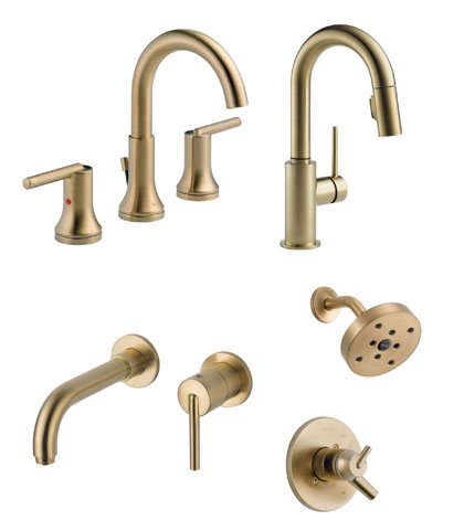 Delta Trinsic Collection Champagne Bronze Kitchen and Bath Fixtures