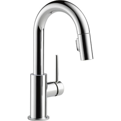 Delta Trinsic Collection Chrome Bar Faucet with Pull-out Sprayer