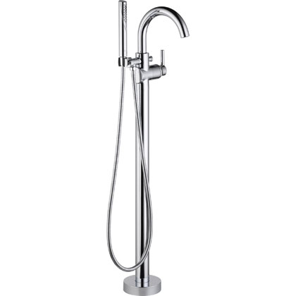 Delta Trinsic Collection Chrome Free Standing Tub Filler with Handshower