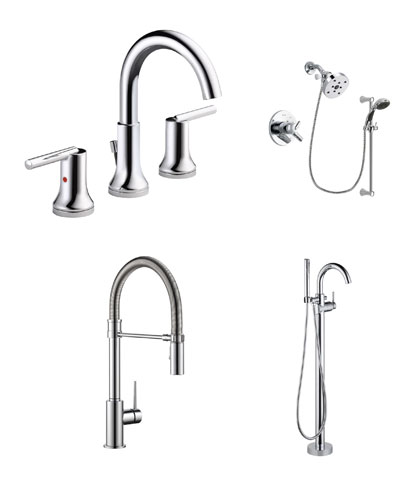 Delta Trinsic Collection Chrome Kitchen and Bath Fixtures