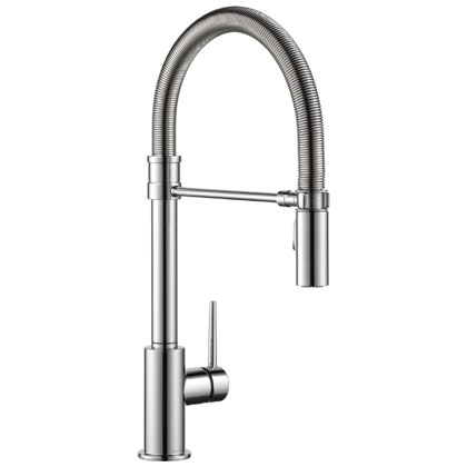 Delta Trinsic Collection Chrome Kitchen Faucet with Pull-out Sprayer