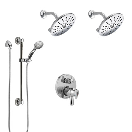 Delta Trinsic Collection Chrome Shower System with Integrated Diverter