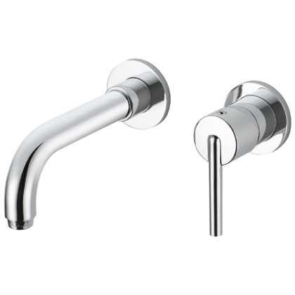 Delta Trinsic Collection Chrome Wall Mount Bathroom Faucet