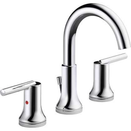 Delta Trinsic Collection Chrome Widespread Bathroom Faucet