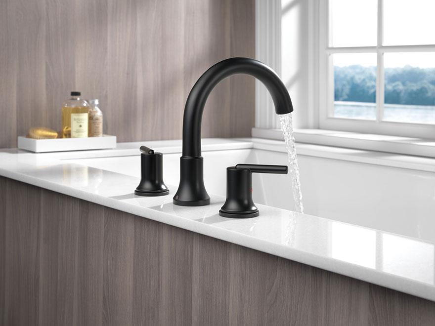 Delta Trinsic Collection Matte Black Roman Tub Faucet