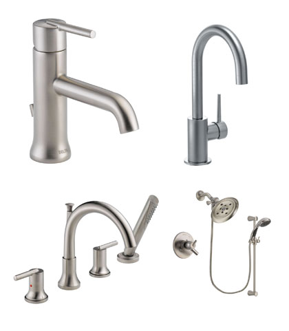 Delta Trinsic Collection Stainless Steel Kitchen and Bath Fixtures