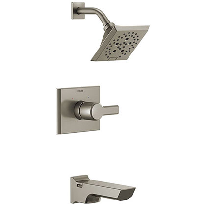 Delta Tub and Shower Combination Faucets with Valve and Trim