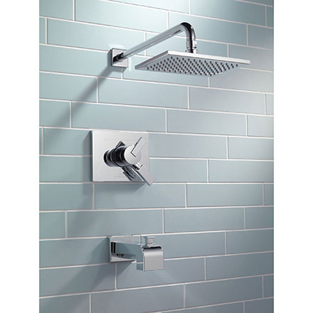 Delta Vero Collection Chrome Tub and Shower Combo Faucet
