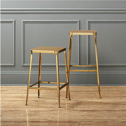 Gold Finish Bar Stools