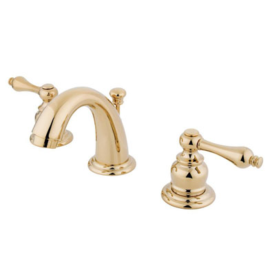 Kingston Polished Brass 4-inch to 8-inch Mini Widespread Bathroom Faucet KB912AL
