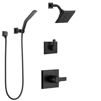 Delta Matte Black Finish Full Custom Shower System Category