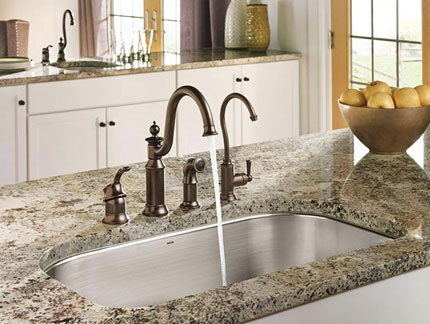 Oil Rubbed Bronze Finish Kitchen Sink Faucet with Soap Dispenser Side Spray and Water Filter Faucet