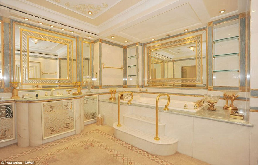 Old Fashioned Polished Brass Gold Bathroom