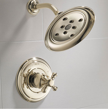 Delta Cassidy Collection Polished Nickel Shower Only Faucet Image 2