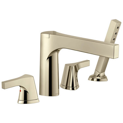 Delta Polished Nickel Finish Roman Tub Filler Faucets Category