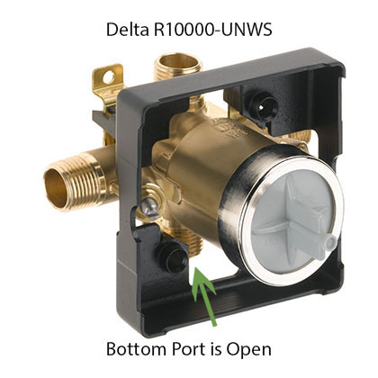 R10000UNWS Bottom Port Open