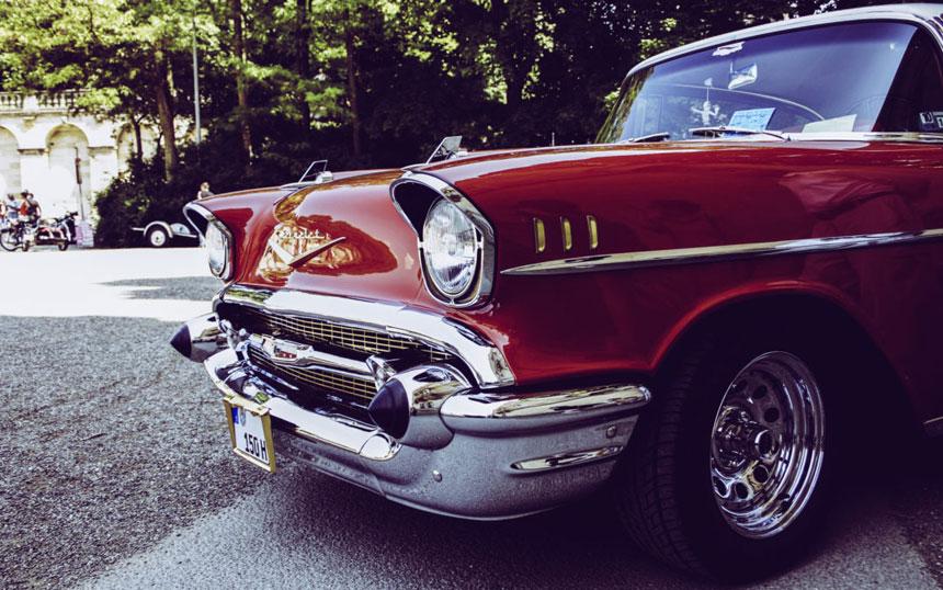 Retro Chrome Car