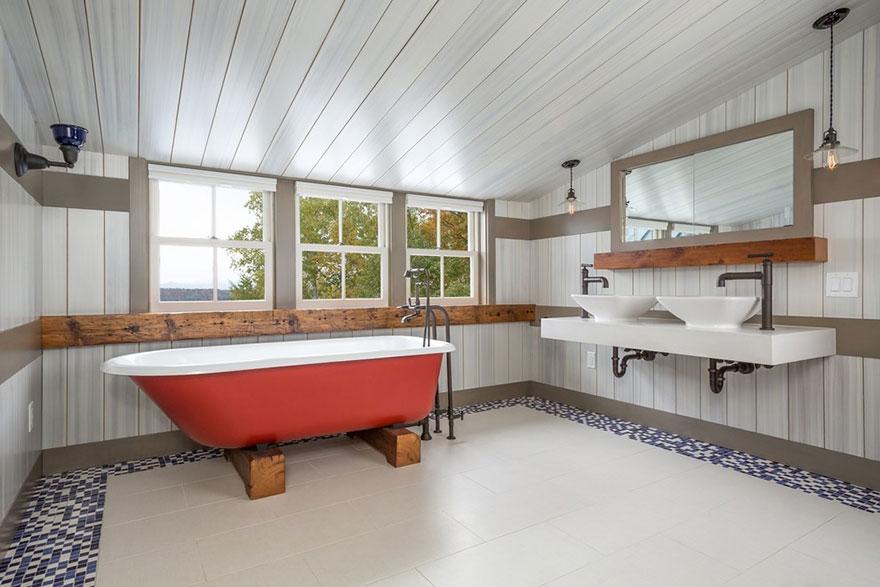 Rustic Minimalist Master Bathroom