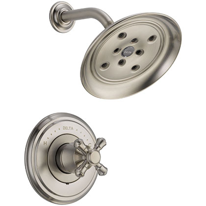 Delta Cassidy Collection Stainless Steel Finish Shower Only Faucet