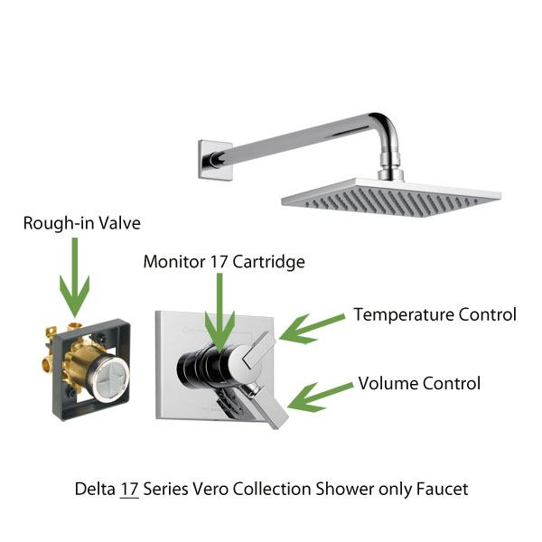 Delta 17 Series Vero Collection Shower only Faucet