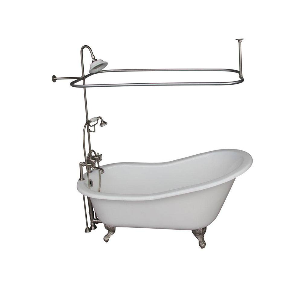 package with foot clawfoot tub product kingston shower vintage claw diverter faucet lightbox wall brass mount faucets