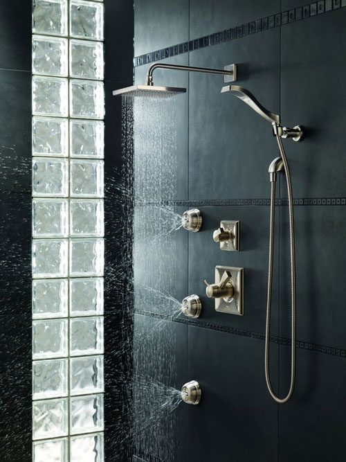 Amazing ... Ceiling Mount Shower, Shower Body Spray Plate, Or Whatever Other  Peripheral Shower Systems You Choose. You Turn The Water On With The On/off  Handle, ...