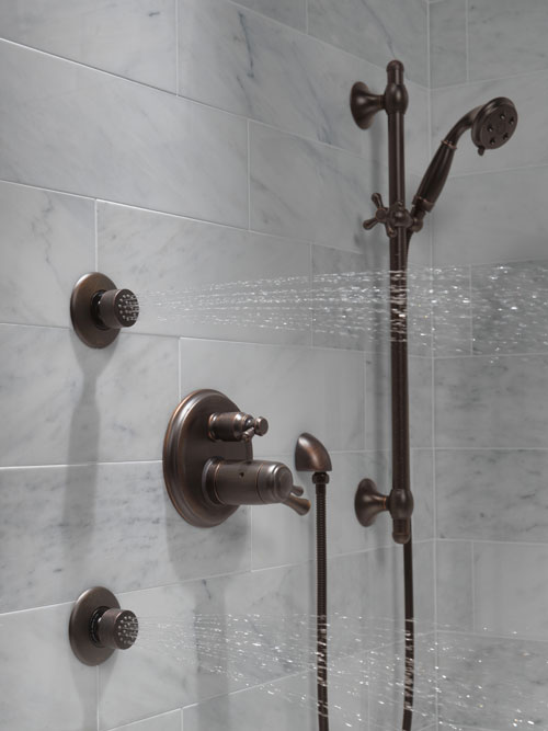 Delta Shower System HydraChoice Body Sprays with Video ...
