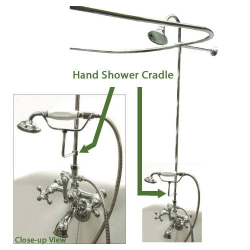 Clawfoot Tub Pole Mount Handheld Shower Bracket