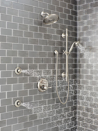Delta Shower System In Room Example 2 using Control with Integrated Diverter
