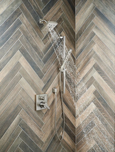 Delta Shower System In Room Example 3 using Control with Integrated Diverter