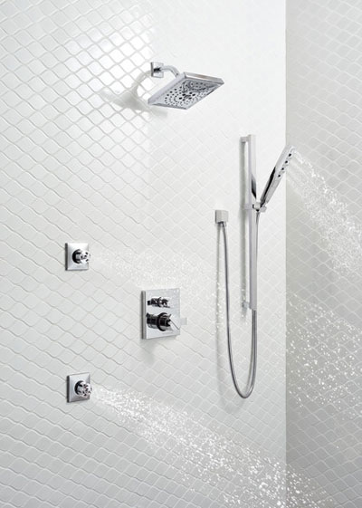 Delta Shower System In Room Example 4 using Control with Integrated Diverter