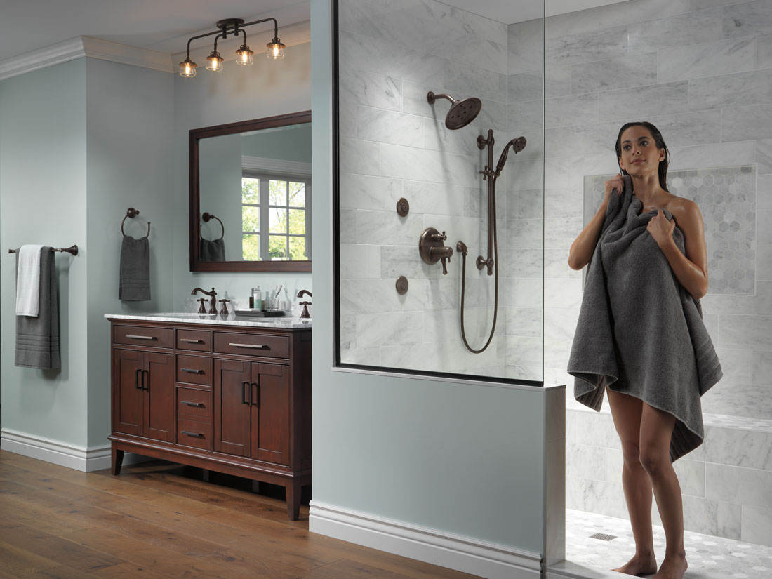 Delta Shower System In Room Example 5 using Control with Integrated Diverter
