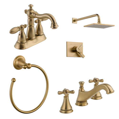 Delta Champagne Bronze Finish Faucets and Fixtures