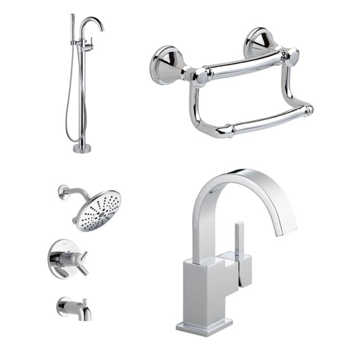 Delta Chrome Finish Faucets and Fixtures