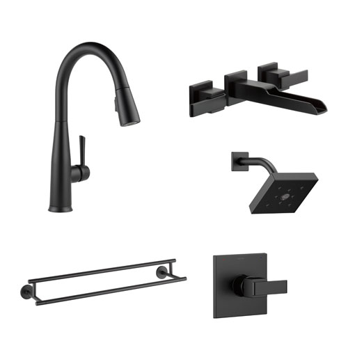 Delta Matte Black Finish Faucets and Fixtures