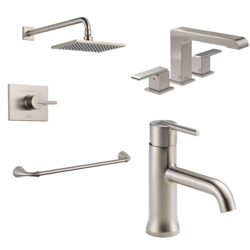Delta Stainless Steel Finish Faucets and Fixtures