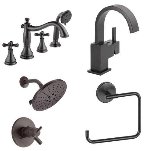 Delta Venetian Bronze Finish Faucets and Fixtures