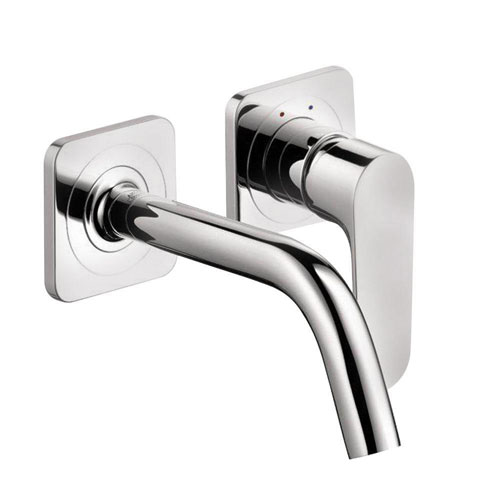 Axor Citterio M Wall Mount 1-Handle Low Arc Bathroom Faucet in Chrome 412321
