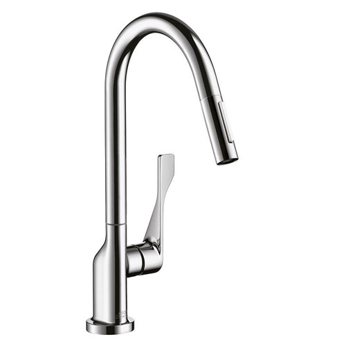 Axor Citterio Single-Handle Pull-Out Sprayer Kitchen Faucet in Chrome 460603