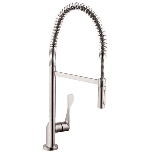 Axor Citterio Semi-Pro Single-Handle Pull-Down Sprayer Kitchen Faucet in Steel Optik 463919