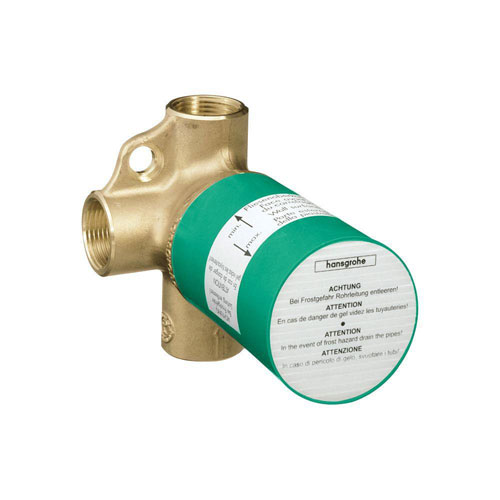 Axor 3.75 inch x 4.125 inch Trio Shut-Off and Diverter Valve Rough in Brass 513027