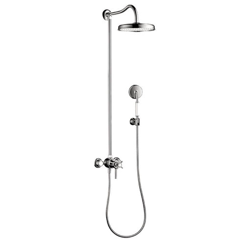 Axor Montreux 1-Spray Handshower and Showerhead Combo Kit in Chrome 575947
