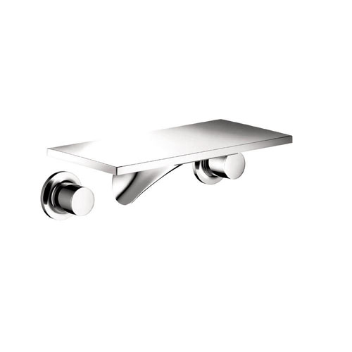 Axor Massaud Wall Mount 2-Handle Low Arc Bathroom Faucet in Chrome 575966